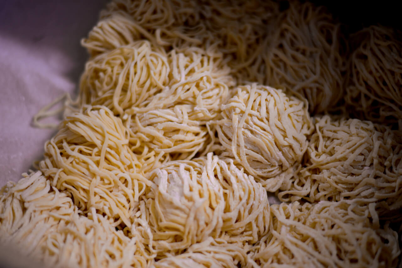 Ramen noodles stored for 3rd resting
