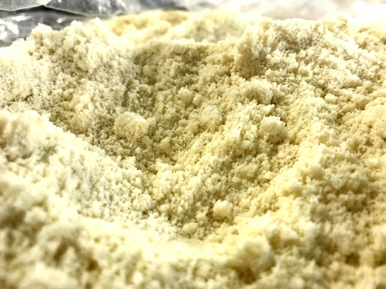ramen noodle dough after mixing process