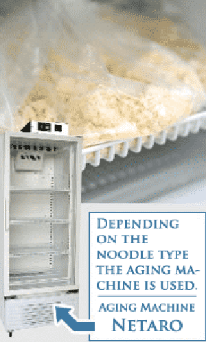 depending on the noodle type the aging machine is used. Aging machine Netaro