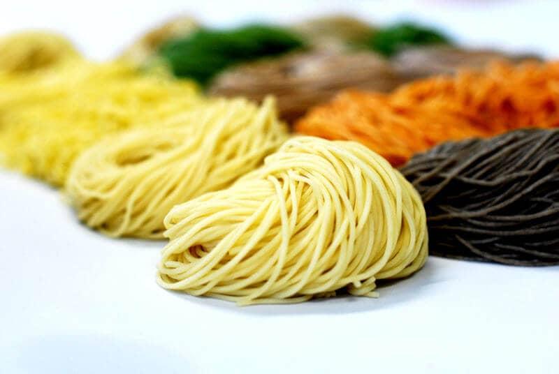 various ramen noodles