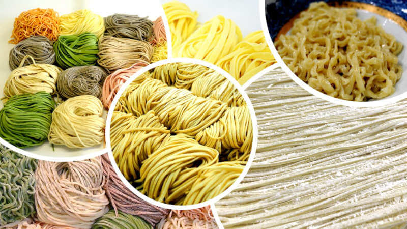 various types of ramen, udon, soba, pasta, Chinese noodles, etc. are constantly developed