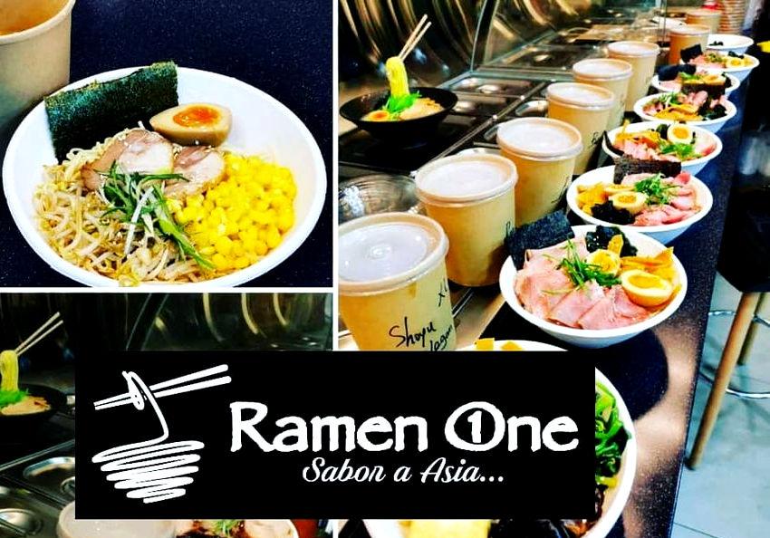 fresh ramen made on Yamato ramen machine