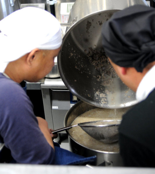 soup straining