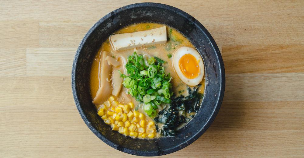 noodles for veggie ramen made on yamato ramen machine