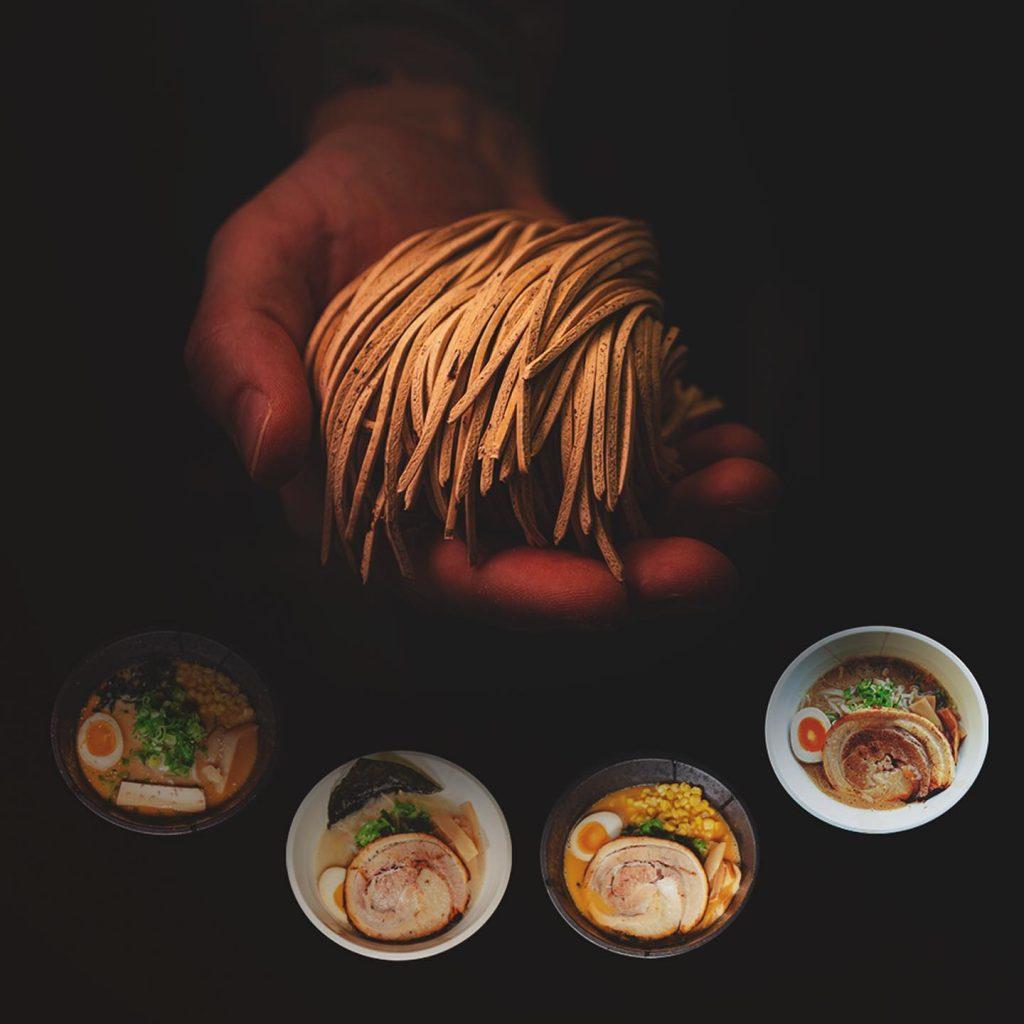 craft ramen noodles made on Yamato ramen noodle machine