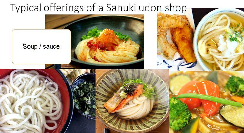 udon noodles made on udon noodle machine