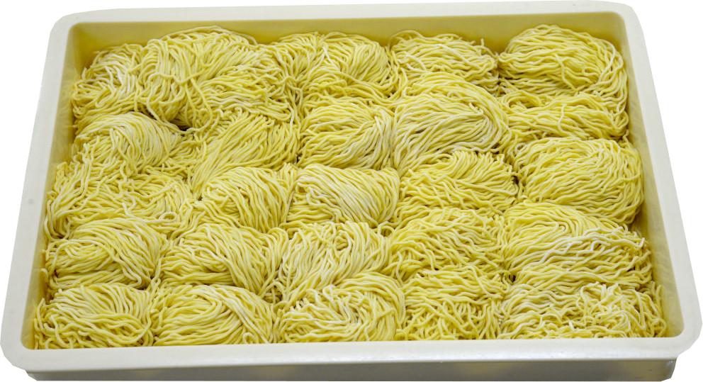 fresh craft ramen noodles made on a ramen machine
