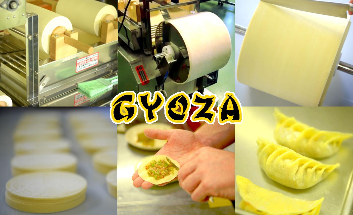 production of gyoza wrappers on a ramen machine